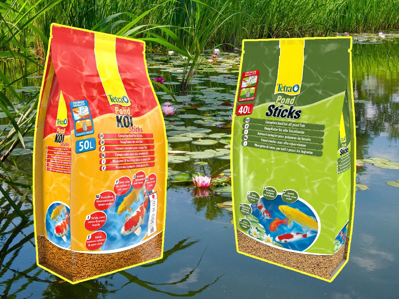 Специальное предложение на корма для прудовых рыб в Аква Лого