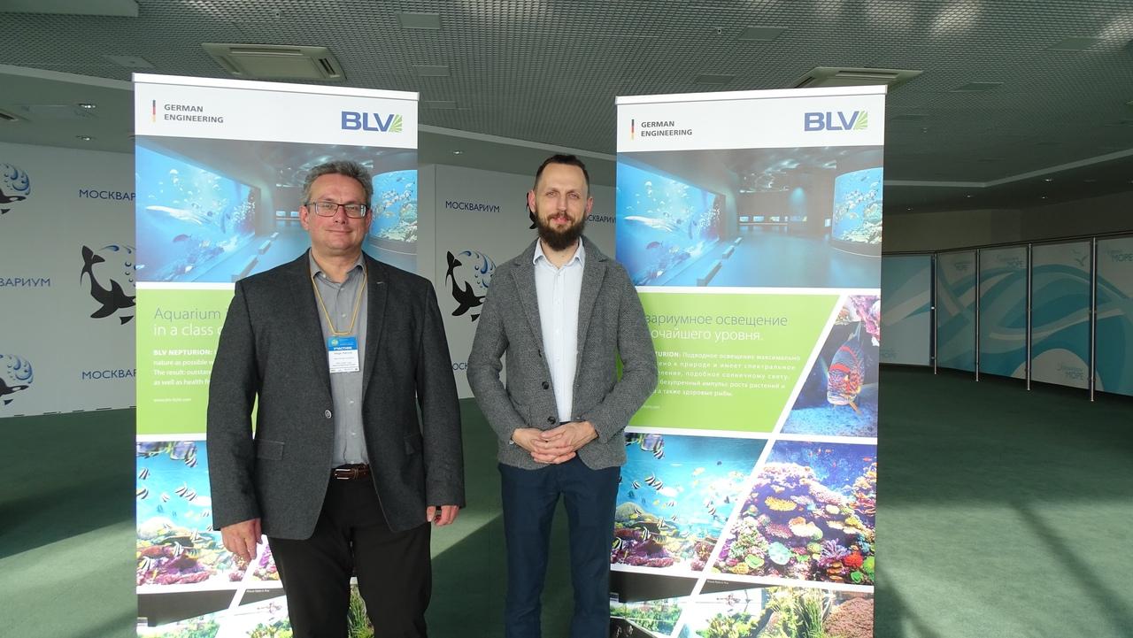 Участники выставки - представители компании BLV Licht (Германия)