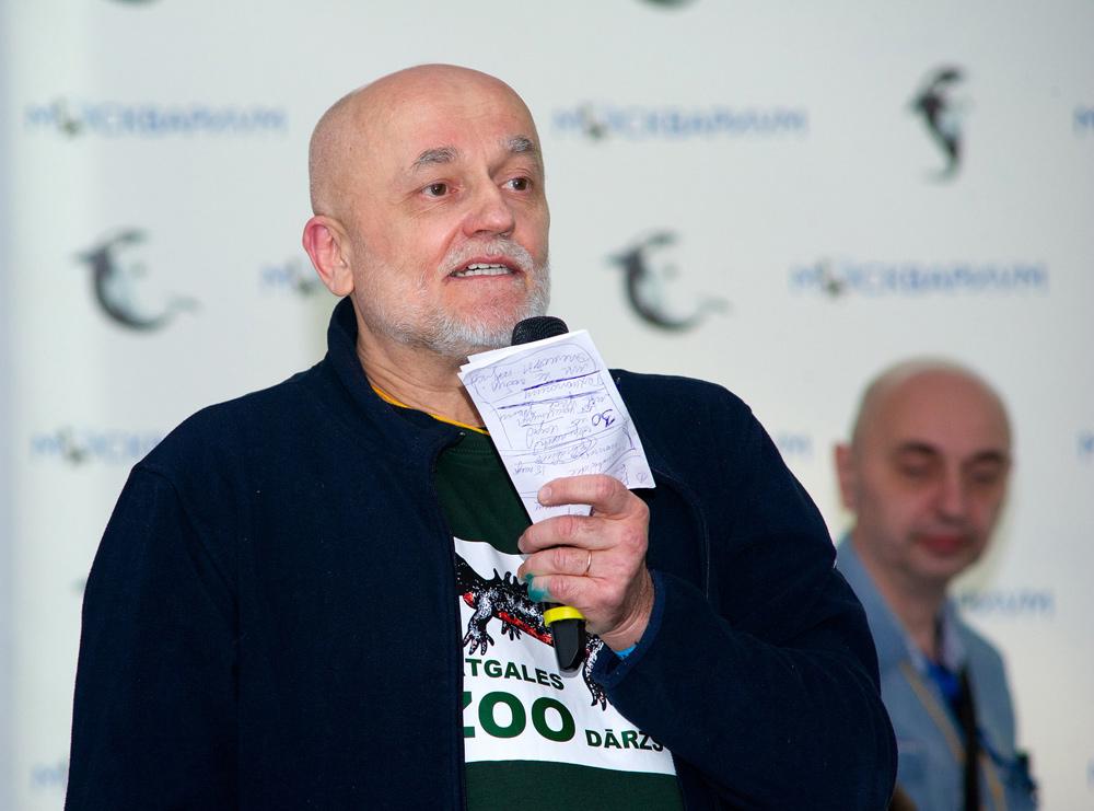 Михаил Пупиньш (M. Pupins) из Даугавпилса (Латвия) рассказал о Латгальском зоопарке (зоосаде), работе экспозиции и его оригинальных стилистических текущих и будущих решениях