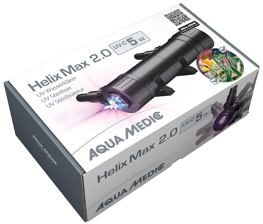 Новая серия стерилизаторов Aqua Medic UV HELIX MAX 2.0 для аквариума и пруда!
